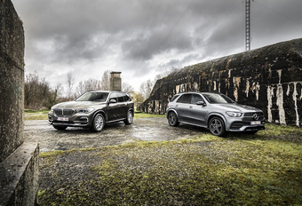 BMW X5 45e vs Mercedes GLE 350de #1