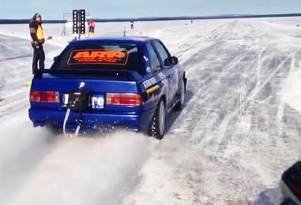 De snelste auto op ijs? Deze door het Buldre Racing Team geprepareerde BMW M3. Tijdens de Swedish Speed Week haalde de tot 1.300 pk opgevoerde E30 een topsnelheid van 346,82 km/u op een bevroren meer nabij Arsunda.