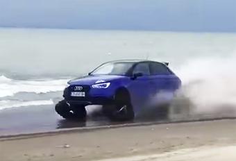 De Audi S1 Quattro heeft vierwielaandrijving, maar maak er geen terreinvoertuig van. Tot je de banden voor rupsbanden ruilt.