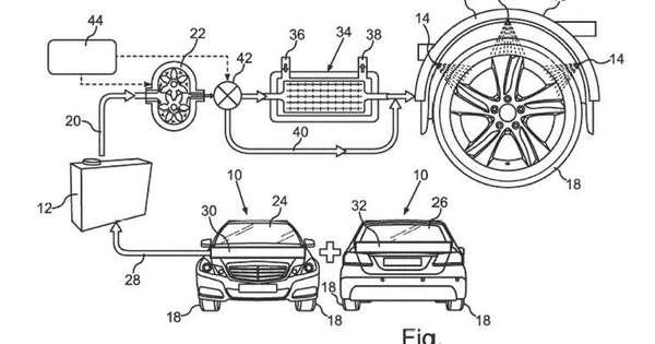 daimler neemt patent op temperatuurregeling van banden