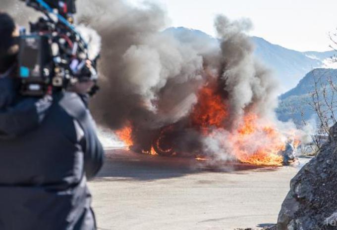 Alpine A110 brandt uit in Top Gear #1