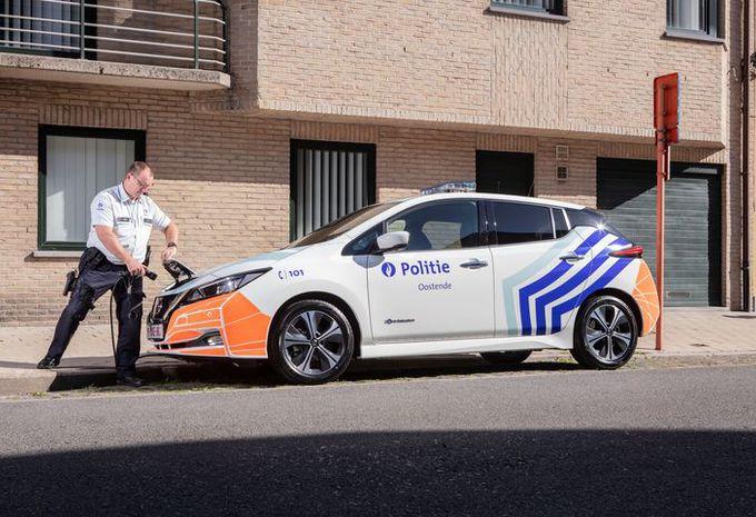 La police d'Ostende en Nissan Leaf #1