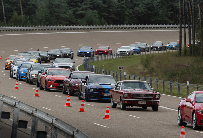 Wereldrecord in Lommel: parade van 1.326 Ford Mustangs #1