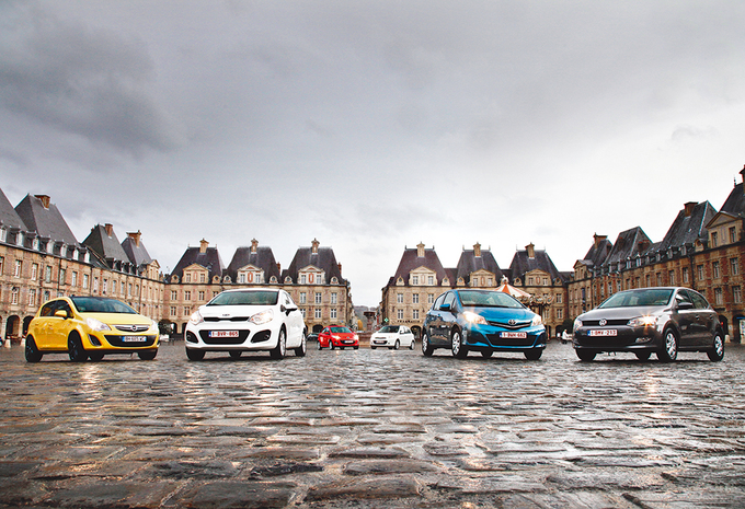 Kia Rio 1.4, Mazda 2 1.5, Nissan Micra 1.2DIG-S, Opel Corsa 1.4, Toyota Yaris 1.3 et Volkswagen Polo 1.4 : Des petites de caractère #1