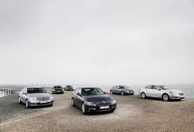 Audi A4, BMW Série 3, Mercedes Classe C, Opel Insignia, Peugeot 508 et Volvo S60 : Dinky-toys #1