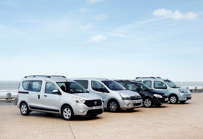 Citroën Berlingo 1.6 HDi 115, Dacia Dokker 1.5 dCi 90, Renault Kangoo 1.5 dCi 100 et Skoda Roomster 1.6 TDI 90 : Hard discount #1