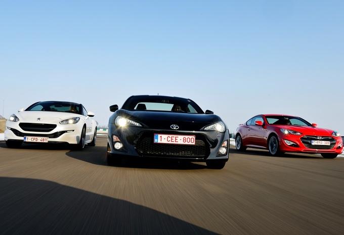 Hyundai Genesis Coupé, Peugeot RCZ en Toyota GT86 : Wintersport #1