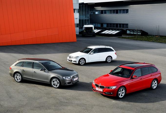 Audi A4 Avant 2.0 TDI 143, BMW 318d Touring en Mercedes C 200 CDI Break : Statussymbolen #1
