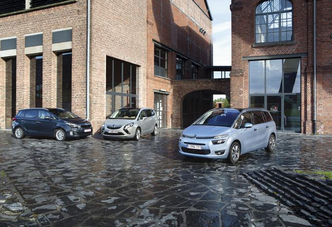 Citroën Grand C4 Picasso 1.6 e-HDi 115, Kia Carens 1.7 CRDi 136 en Opel Zafira Tourer 1.6 CDTI 136 : Nog niet uitgeteld #1