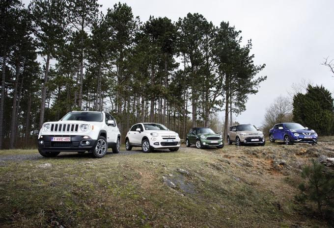 Fiat 500X, Jeep Renegade, Kia Soul, Mini Countryman en Nissan Juke : Dubbel offensief #1