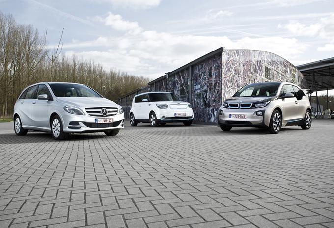 BMW i3, Kia Soul EV en Mercedes B Electric Drive #1