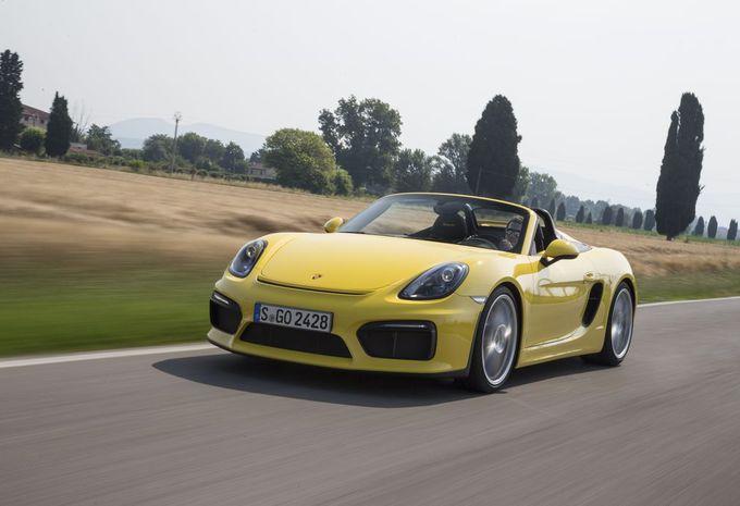 Porsche Boxster Spyder : travail manuel #1