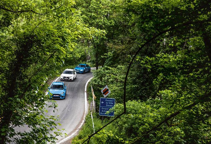 BMW M2 // FORD FOCUS RS // HONDA CIVIC TYPE R : Trekken en duwen #1