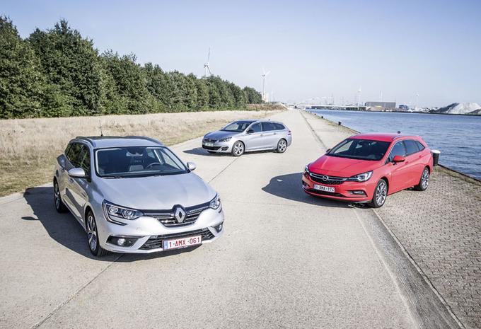 Renault Mégane Grandtour tegen 2 concurrenten #1