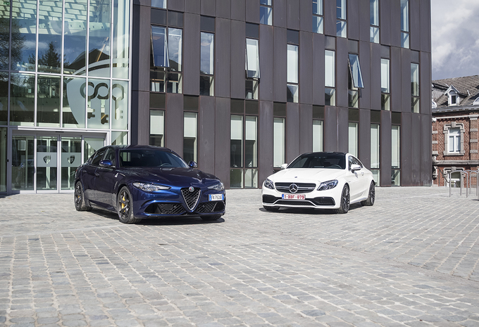 Alfa Romeo Giulia Quadrifoglio vs Mercedes-AMG C 63 S Coupé #1